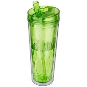 Relatiegeschenk Hot en Cold Flip n Sip 535 ml geometrische isolerende drinkfles - Lime