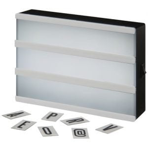 Relatiegeschenk Cinema A5 decoratieve lightbox - Wit