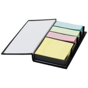Relatiegeschenk Mestral sticky notes - Zwart