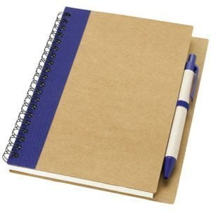 Relatiegeschenk Priestly gerecycled notitieboek met pen - Naturel