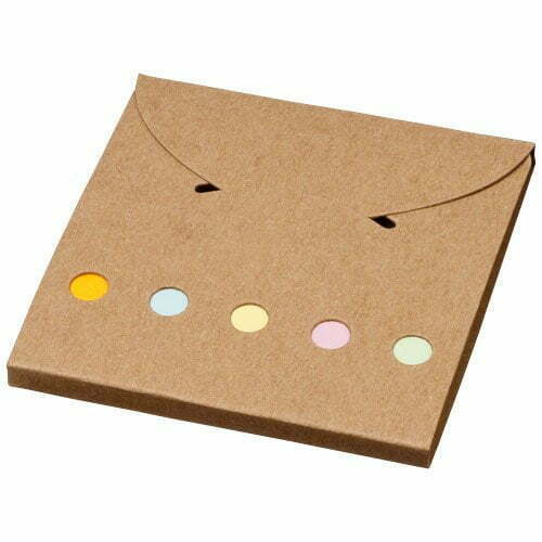 Relatiegeschenk Deluxe gekleurde sticky notes - Naturel