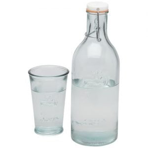 Relatiegeschenk Ford 970 ml waterkaraf van gerecycled glas - Transparant