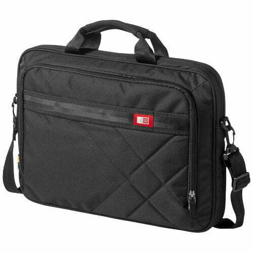 "Relatiegeschenk Quinn 17"" laptop of tablet tas - Zwart"