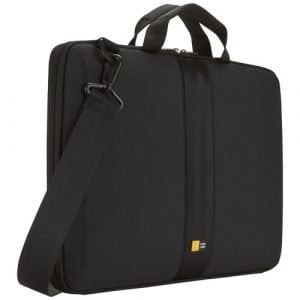"Relatiegeschenk Case Logic 16"" laptophoes met handgrepen en band - Zwart"