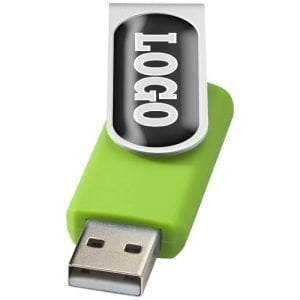 Relatiegeschenk Rotate-doming USB 2GB - Lime