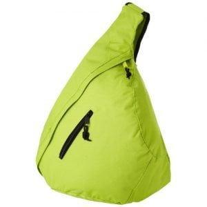 Relatiegeschenk Brooklyn triangle polyester rugzak - Lime