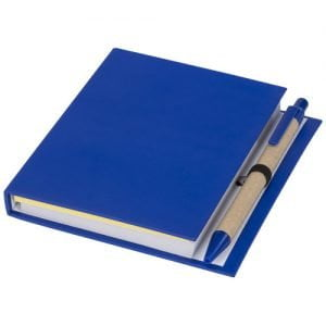 Relatiegeschenk Colours combinatie notitieblok met sticky notes en pen - Blauw